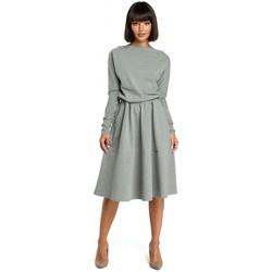 Textil Mulher Vestidos Be B087 Vestir-se e flare midi - cinzento