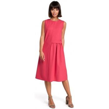 Textil Mulher Sweats Be B080 Vestido sem mangas Airy midi - rosa