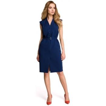 Textil Mulher Vestidos Style S102 Camisa sem mangas - azul-marinho