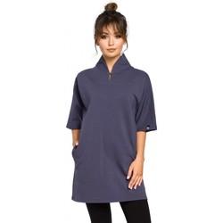 Textil Mulher Tops / Blusas Be B043 Túnica de quimono - azul