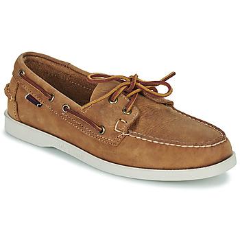 Sapatos Homem Sapato de vela Sebago DOCKSIDES PORTLAND CRAZY H Castanho