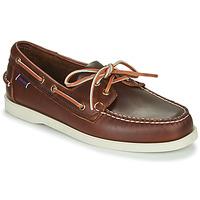 Sapatos Homem Sapato de vela Sebago DOCKSIDES PORTLAND WAXED Castanho