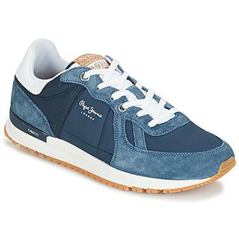 Sapatos Homem Sapatilhas Pepe jeans TINKER PRO Azul