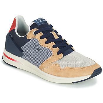 Sapatos Homem Sapatilhas Pepe jeans JAYKER DUAL D LIMIT Azul / Bege