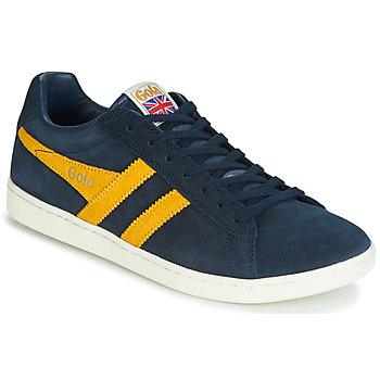 Sapatos Homem Sapatilhas Gola EQUIPE SUEDE Azul / Amarelo