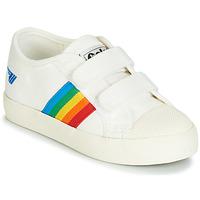 Sapatos Criança Sapatilhas Gola COASTER RAINBOW VELCRO Branco