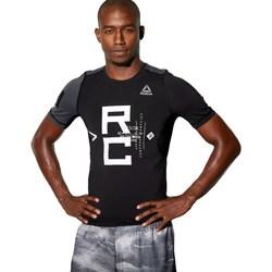 Textil Homem T-Shirt mangas curtas Reebok Sport Combat SS Rash Guard Preto,Cinzento