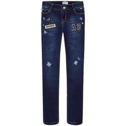 Textil Rapariga Calças Jeans Mayoral PANTALON LARGO TEJANO FANTASIA azul