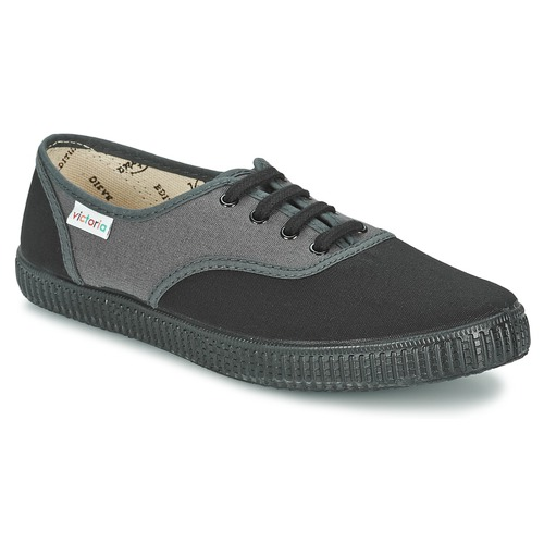 Sapatos Sapatilhas Victoria INGLESA BICOLOR Antracite