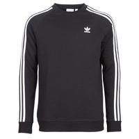 Textil Homem Sweats adidas Originals 3 STRIPES CREW Preto