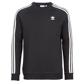 Textil Homem Sweats adidas Originals 3 STRIPES CREW Preto