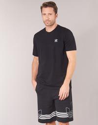 Textil Homem T-Shirt mangas curtas adidas Originals ESSENTIAL T Preto