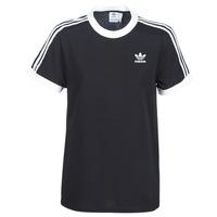 Textil Mulher T-Shirt mangas curtas adidas Originals 3 STRIPES TEE Preto