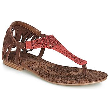 Sapatos Mulher Sandálias Desigual SHOES_LUPITA_LOTTIE Conhaque / Vermelho