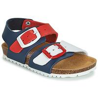 Sapatos Criança Sandálias Garvalin BIO  BOY Marinho / Vermelho / Branco