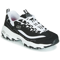 Sapatos Mulher Sapatilhas Skechers D'LITES Preto / Branco