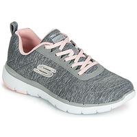 Sapatos Mulher Sapatilhas Skechers FLEX APPEAL 3.0 INSIDERS Cinzento
