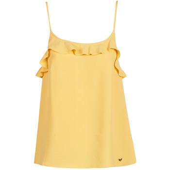 Textil Mulher Tops sem mangas Les Petites Bombes AZITAFE Amarelo