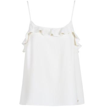 Textil Mulher Tops sem mangas Les Petites Bombes AZITAFE Branco