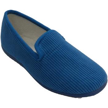 Sapatos Mulher Chinelos Made In Spain 1940 Sapato de veludo liso Soca em Azul azul
