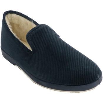 Sapatos Homem Chinelos Made In Spain 1940 Homem de veludo Zapatillas Soca em Azul- azul