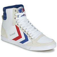 Sapatos Homem Sapatilhas de cano-alto Hummel TEN STAR HIGH CANVAS Branco / Azul / Vermelho