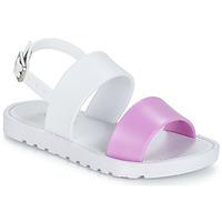 Sapatos Rapariga Sandálias Be Only ELEA Branco / Rosa