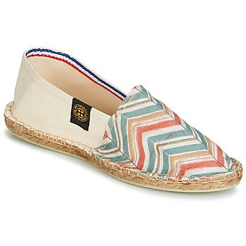 Sapatos Mulher Alpargatas Art of Soule BOHEME BICOLOR Bege / Azul / Coral