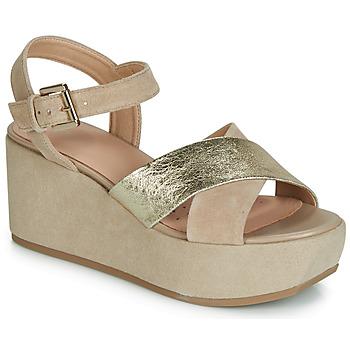 Sapatos Mulher Sandálias Geox D ZERFIE Ouro / Toupeira