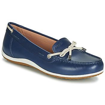 Sapatos Mulher Mocassins Geox D VEGA MOC Azul / Cru