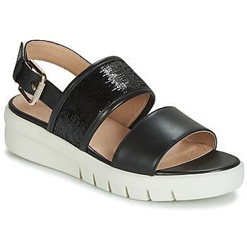 Sapatos Mulher Sandálias Geox D WIMBLEY SANDAL Preto