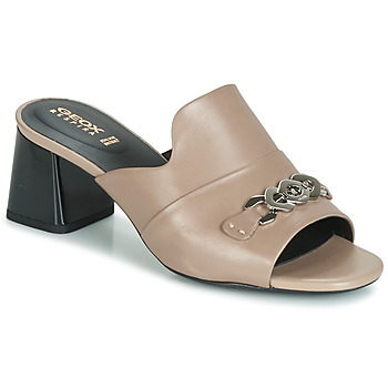 Sapatos Mulher Chinelos Geox D SEYLA SANDAL MID Bege