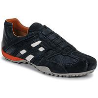 Sapatos Homem Sapatilhas Geox UOMO SNAKE Azul / Preto