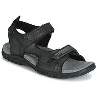 Sapatos Homem Sandálias desportivas Geox UOMO SANDAL STRADA Preto