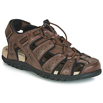 Sapatos Homem Sandálias desportivas Geox UOMO SANDAL STRADA Castanho