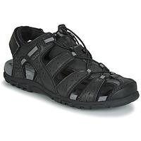 Sapatos Homem Sandálias Geox UOMO SANDAL STRADA Preto