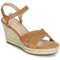 Sapatos Mulher Sandálias Geox D SOLEIL Camel