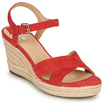Sapatos Mulher Sandálias Geox D SOLEIL Vermelho / Coral