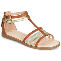 Sapatos Rapariga Sandálias Geox J SANDAL KARLY GIRL Camel / Ouro