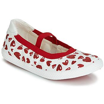 Sapatos Rapariga Sabrinas Geox J KILWI GIRL Branco / Vermelho