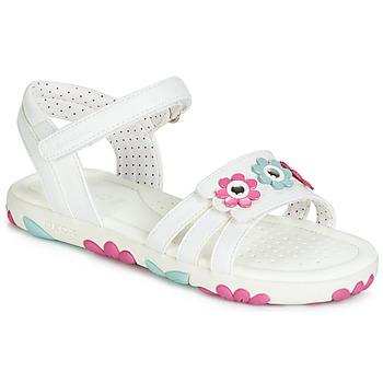 Sapatos Rapariga Sandálias Geox J SANDAL HAITI GIRL Branco