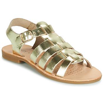 Sapatos Rapariga Sandálias Geox J SANDAL VIOLETTE GI Ouro