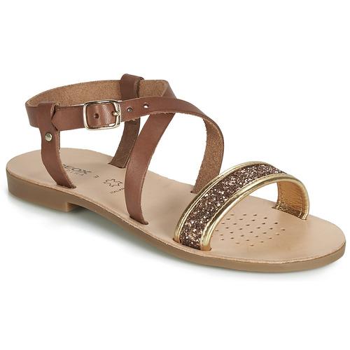 Sapatos Rapariga Sandálias Geox J SANDAL VIOLETTE GI Castanho