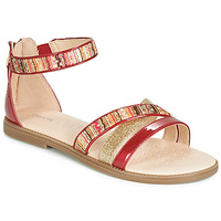 Sapatos Rapariga Sandálias Geox J SANDAL KARLY GIRL Vermelho / Dourado
