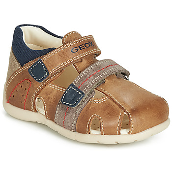 Sapatos Rapaz Sandálias Geox B KAYTAN Castanho