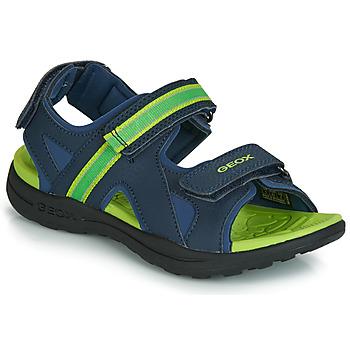 Sapatos Rapaz Sandálias desportivas Geox J GLEEFUL BOY Azul / Amarelo
