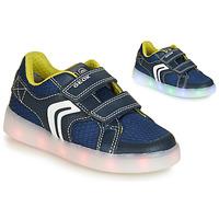 Sapatos Rapaz Sapatilhas Geox J KOMMODOR BOY Azul