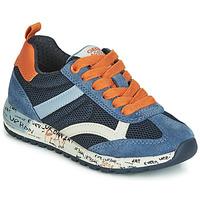 Sapatos Rapaz Sapatilhas Geox J ALBEN BOY Marinho / Laranja