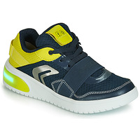 Sapatos Rapaz Sapatilhas Geox J XLED BOY Azul / Amarelo