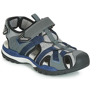 Sapatos Rapaz Sandálias desportivas Geox J BOREALIS BOY Cinza / Marinho